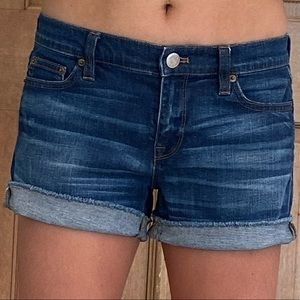 J. Crew blue jean shorts 26, loose-fit size 4